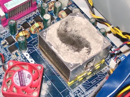 CPUにこびりついたほこり