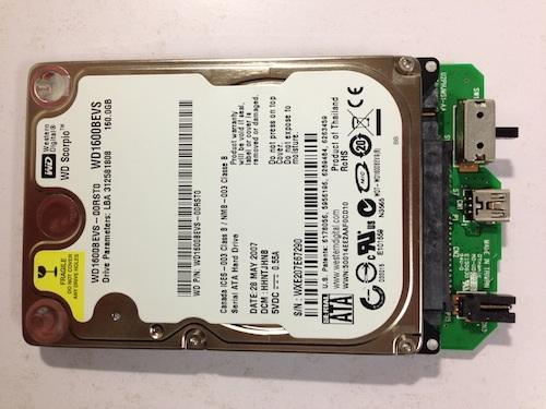 HD-PSUG2のHDDが外せたところ2