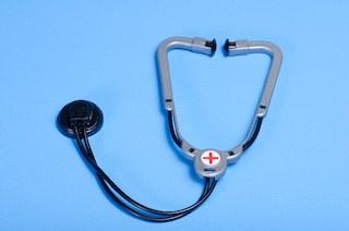 聴診器で検査