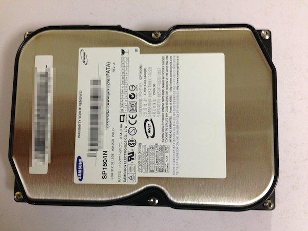ハードディスクHDC-Uハードディスクを取り出せた