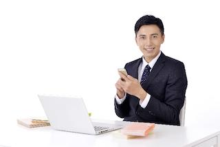 微笑のビジネスマン