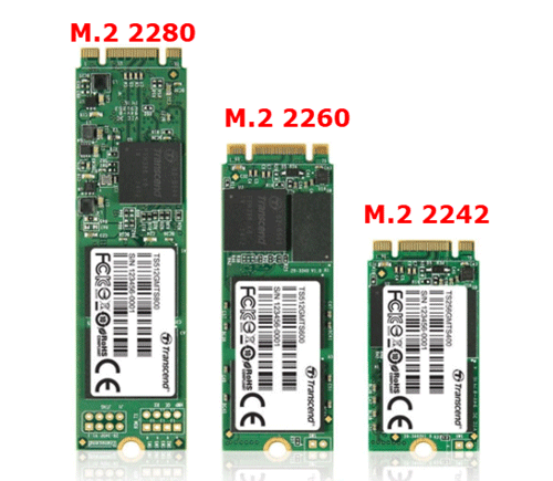 M.2 2280と2260と2242の比較