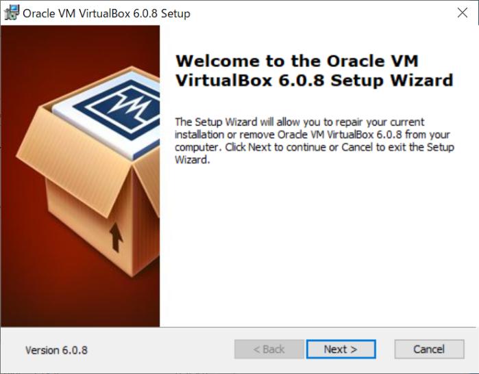 VirtualBoxのインストーラーを起動
