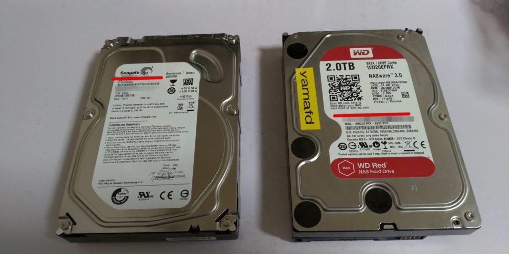 HDDが2台