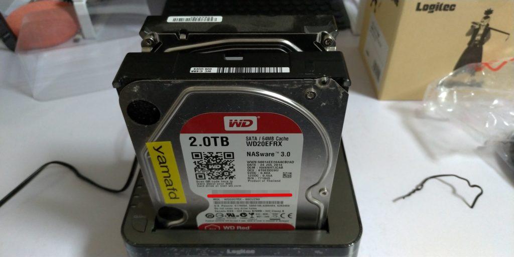 2台目のHDD